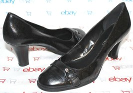 ✿ ETIENNE AIGNER Margaux Coated Logo Canvas Leather Pumps 8 M EXCELLENT!... - €25,49 EUR