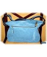Coach Bag Blue Suede Purse NWT Dust Bag was $328 reduced - $162.00