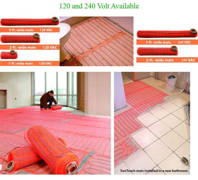 SunTouch Floor Heating Mats 160 sq