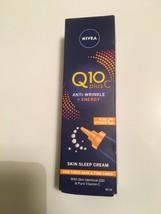 NIVEA Q10 + Vitamin C Anti-Wrinkle + Energy Skin Sleep Cream (40 ml), En... - $12.58