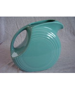 Fiesta Turquoise Large Disk Pitcher Fiestaware Contemporary - $40.00