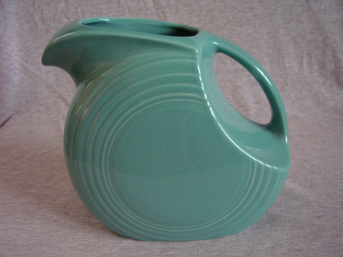 Fiesta Turquoise Large Disk Pitcher Fiestaware Contemporary