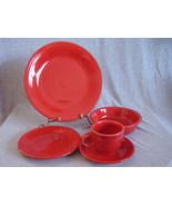 Post 86 Fiestaware Scarlet 5pc Placesetting NIB Fiesta - $38.00