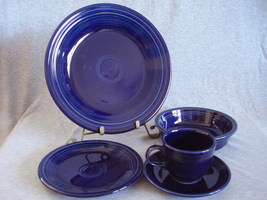 Contemporary Fiestaware Cobalt 5pc Placesetting Fiesta - $38.00