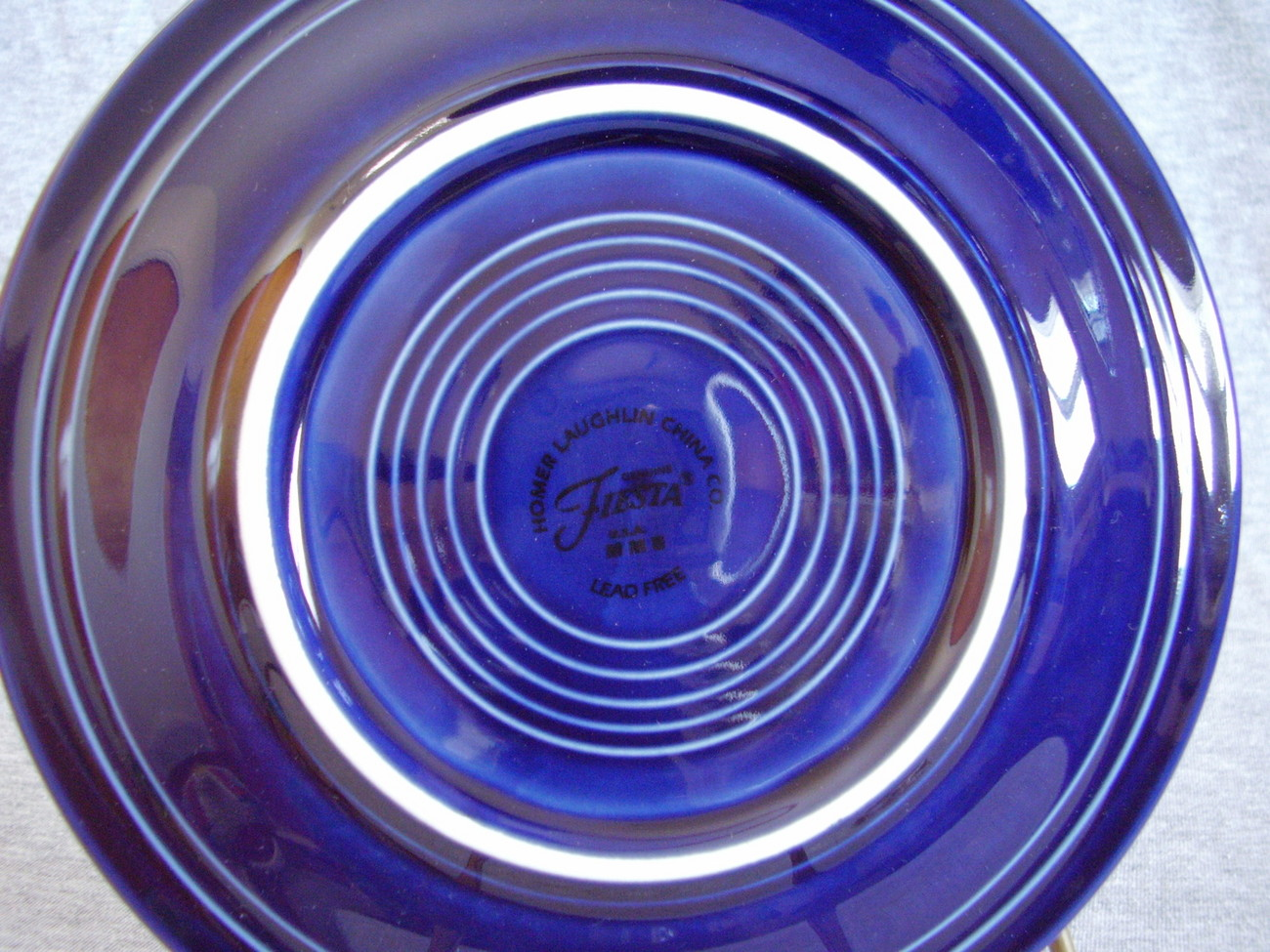 Contemporary Fiestaware Cobalt 5pc Placesetting Fiesta