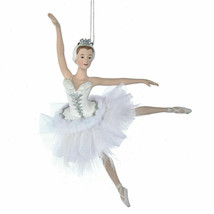 "KURT ADLER 6.75"" HAND PAINTED RESIN SWAN LAKE BALLERINA CHRISTMAS ORNAMENT - $14.88"