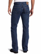NEW LEVI'S STRAUSS 505 MEN'S ORIGINAL STRAIGHT LEG DARK STONEWASH JEANS 505-4886 image 2