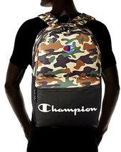 Champion Men's Manuscript Canvas School Backpack Shoulder Zipper Book Bag image 4