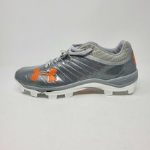 Under Armour Harper Yard Low Baseball Cleats Mens Size 11.5 Silver Orange NEW - $59.35