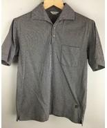 Vintage Masters Polo Shirt M Medium Navy Blue White Stripe Golf Short Sl... - $23.75