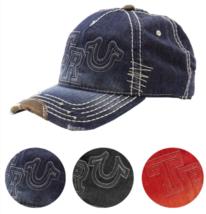 New True Religion Men's Premium Classic Trucker Distressed Hat Cap Buddha TR1995