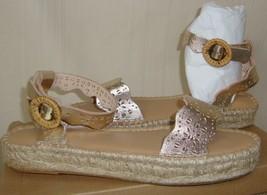 Soludos x Anthropologie Platinum Wave Cadiz Espadrille Sandals Size 8 NEW  - $54.44