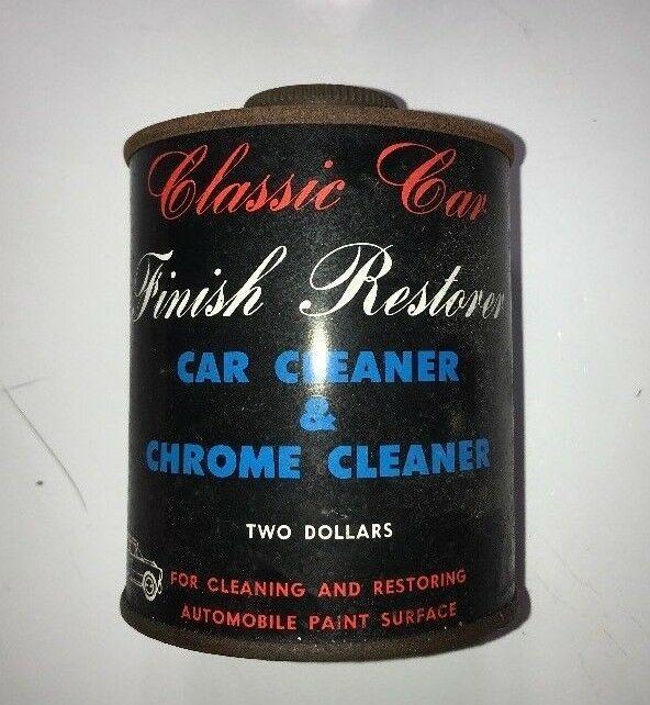 Classic Car Finish Restorer Car Cleaner & Chrome Cleaner Two Dollars Vintage TIN