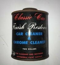 Classic Car Finish Restorer Car Cleaner & Chrome Cleaner Two Dollars Vintage TIN image 1