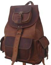 New Handmade Genuine Rustic Soft Leather Ladies Travel Backpack Rucksack... - $64.17