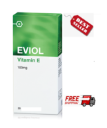 EVIOL PURE VITAMIN E 100 DIETARY SUPPLEMENT 20 soft caps - $15.30