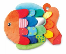 Melissa & Doug K's Kids Cuddly Flip Fish Baby Learning Toy Plush Textured New - $19.79
