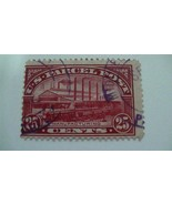 Manufacturing Carmine Rose USA Used 25 Cent Stamp - $10.55