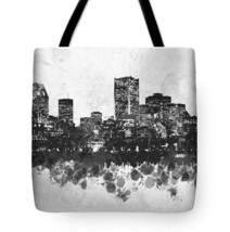 Tote bag All over print Design 47 City Cityscape gray black digital art ... - $26.99+