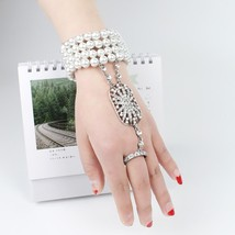 Art Deco The Great Gatsby Inspired Flower Simulated Pearl Bracelet Set W... - $11.97