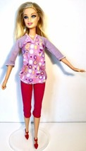 Barbie Potty Training Taffy Doll Blonde Hair Blue Eyes Redressed Jointed Knees - $5.45