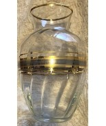 Bohemia Glass Vase Gold & Silver Unquie Designs , Excellent Pre-Owned Co... - $39.99