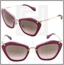 MIU MIU NOIR MU 10N Red Gold Cyclamen Glitter Sunglasses DHH-1E2 MU10NS - $248.58