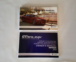 2018 Subaru Impreze Owners Manual with Nav Manual 05167 - $28.66