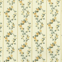 Rosette~Ivory Floral Garland on Ivory Cotton Fabric by RJR Fabrics - $12.30