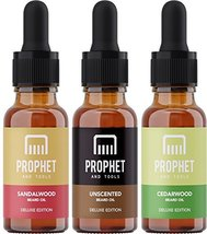 DELUXE EDITION 3 Beard Oils Set: Sandalwood, Cedarwood and Unscented - USA's TOP image 9