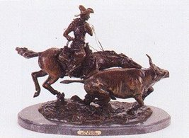 Bolter Collectible Solid Bronze Sculpture Statue By C. M. Russell - $1,176.00