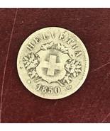 1850 HELVETIA 20 Swiss men coin - $37.40