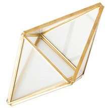 Glass Plant Terrarium Succulent Planter - Tchan Prism Geometric Tabletop... - $15.91