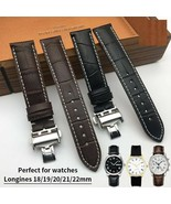 18 19 20 21 22mm Genuine Leather Texture Italian Cowhide Universal Watch... - $48.87