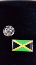 jamaica Flag  lapel pin  handmade in uk from uk made parts, boxed tie,lapel pin