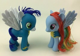 My Little Pony Wonderbolts Rainbow Dash and Soarin Lot Doll Figures Hasb... - $19.55