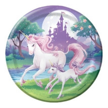 Unicorn Fantasy Dinner Plates (8) - Birthday Party Supplies - $3.68