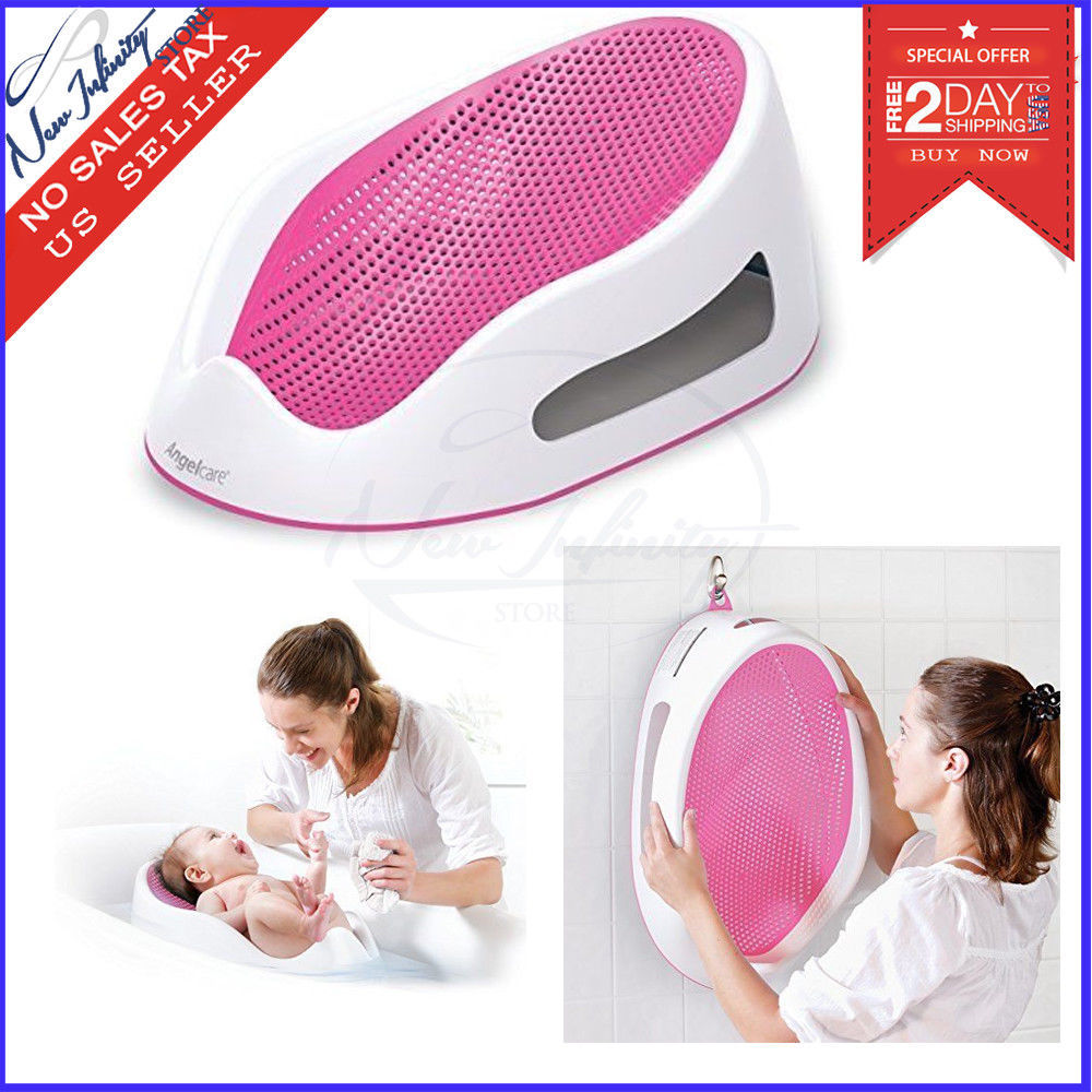 Baby Bath Support Angelcare Pink Lightweight Bathing Infant Mesh ...