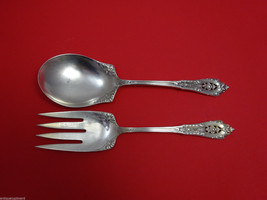 "Rose Point by Wallace Sterling Silver Salad Serving Set All Sterling 9"" - $341.05"