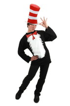 Dr. Seuss The Cat In The Hat Adult T-Shirt and Hat Costume Kit S/MED NEW... - $40.63