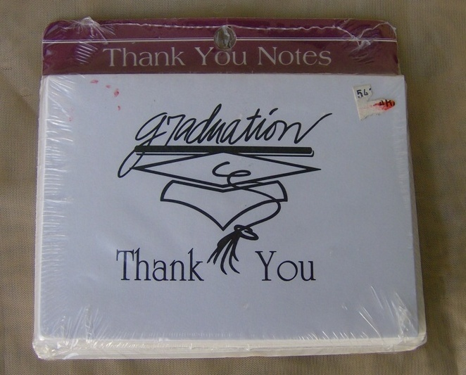 8 Graduation Thank You Notes Cards and Envelopes