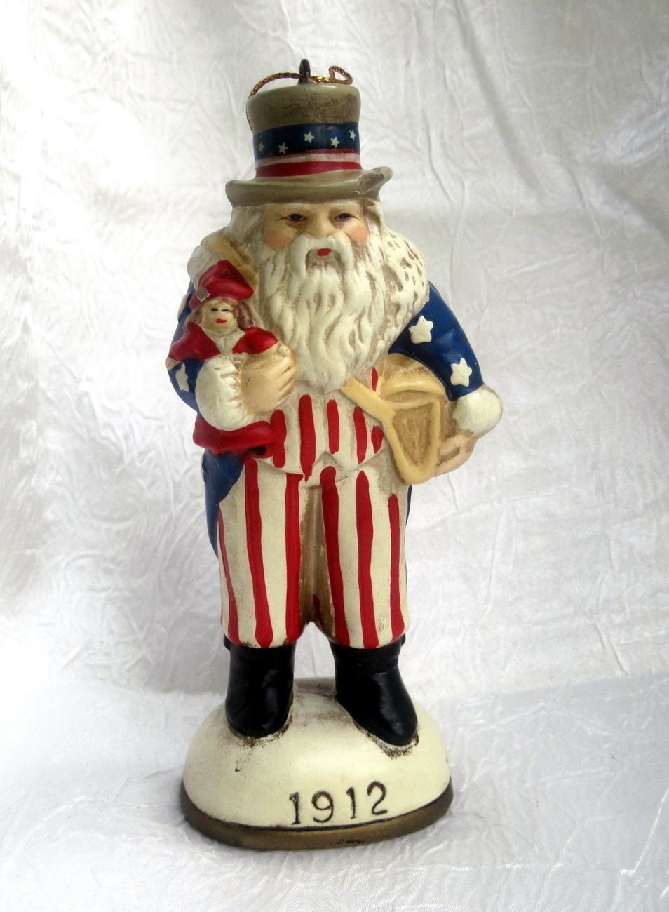 Uncle sam santa claus figurine ornament memories of