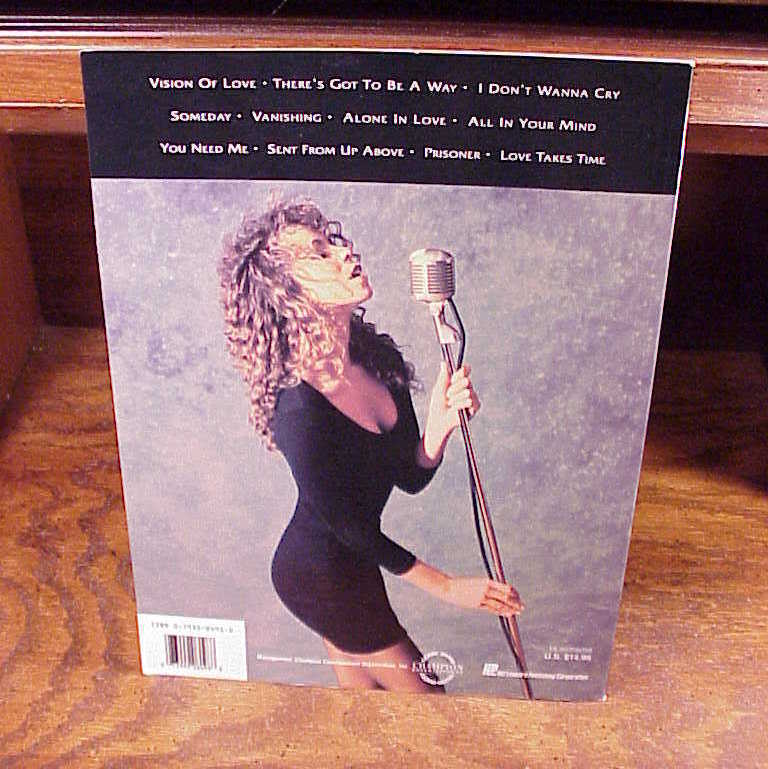 Mariah Carey Self-Titled Songbook from 1991 with 11 songs