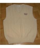 Vest PONTIAC BUICK GMC logos Cotton Cable Knit Sweater Golf Vest size L v43 - $8.00