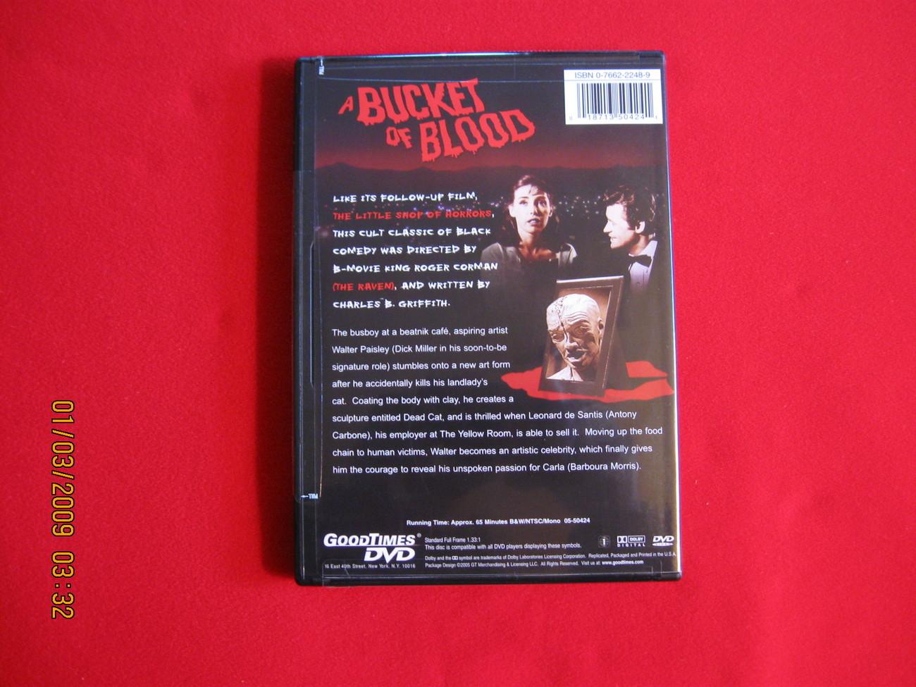 A Bucket of Blood (1959) Starring: Judy Bamber, John Brinkle