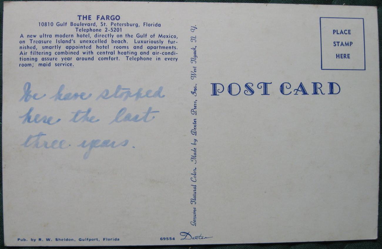 Dexter Press, Full Bleed, Photochrome Postcard, The Fargo Mo