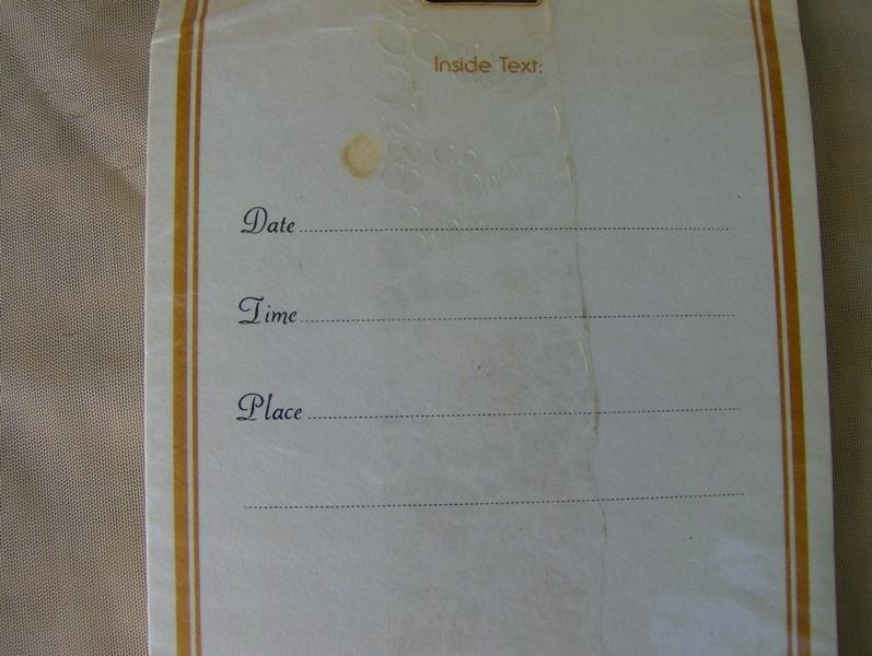 NIP 8 Vintage Wedding Rehearsal Dinner Cards and Envelopes