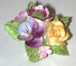 England Bone China Vintage Flower Pin English Floral - $14.25