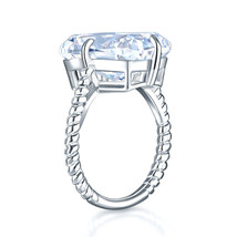 Solid 925 Sterling Silver Luxury Ring Solitaire 8.5 Ct Engagement Party ... - $139.99