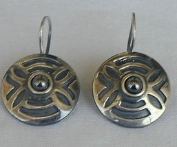 Round oxygenized earrings - $25.00
